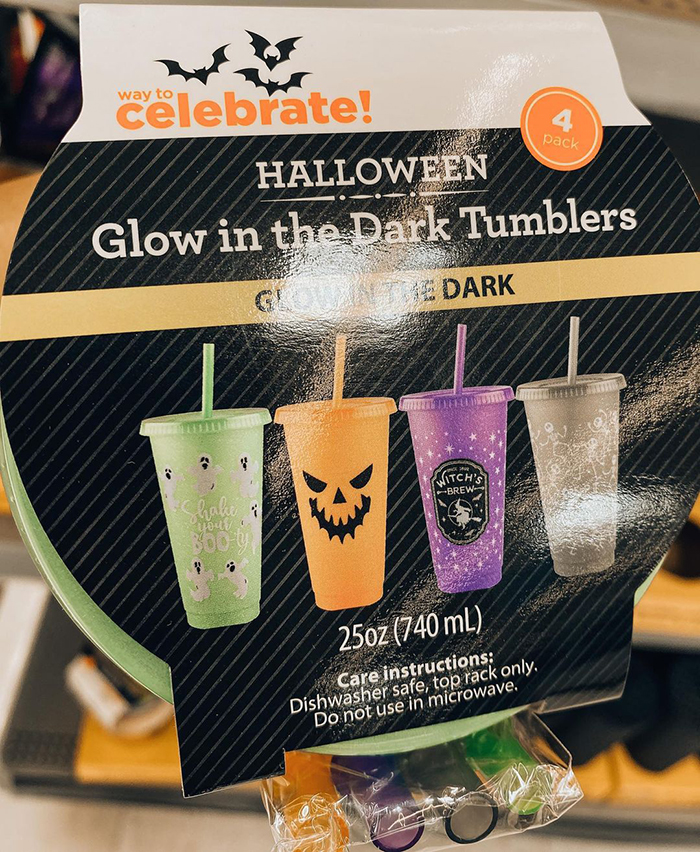set of four halloween tumblers