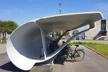 turbine blade bike shelter