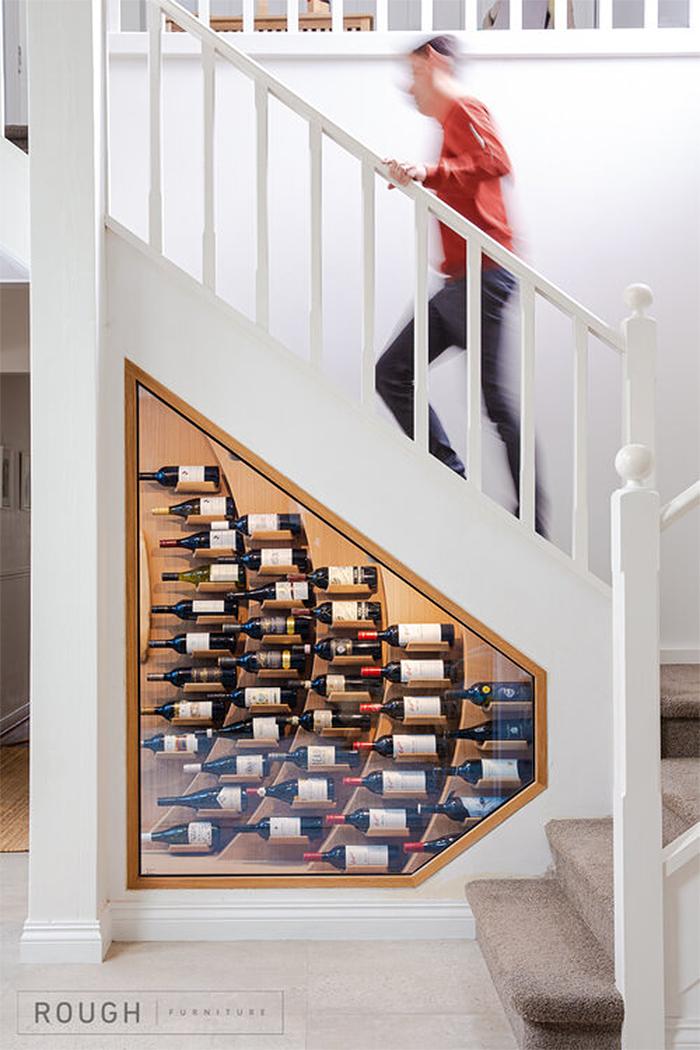 under stairs wine rack rough furniture