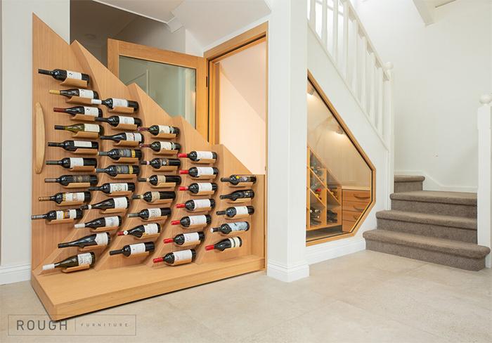 under stairs wine rack