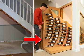 under stairs wine storage rack